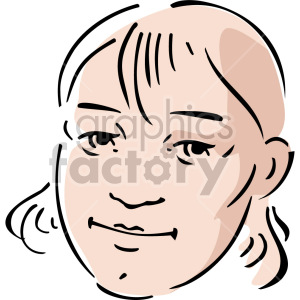 female face clipart. Royalty-free image # 157373