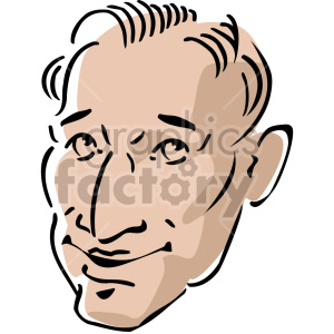 man's head clipart. Commercial use image # 157393
