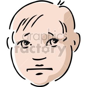 sad boy's face