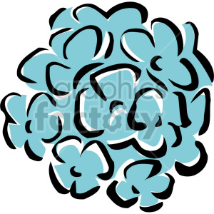 blue flowers clipart. Royalty-free image # 151173