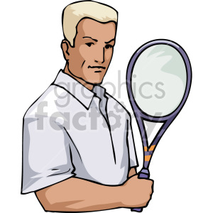 male tennis player clipart. Royalty-free image # 170058