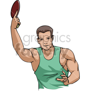 ping pong player clipart. Royalty-free image # 170056