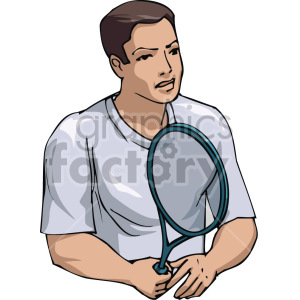 man playing tennis clipart. Royalty-free image # 170046