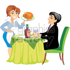 svg_waitress server food clipart. Royalty-free image # 393613