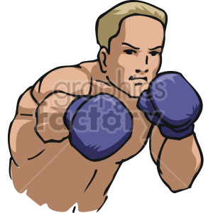 shadow boxing clipart. Royalty-free image # 168731