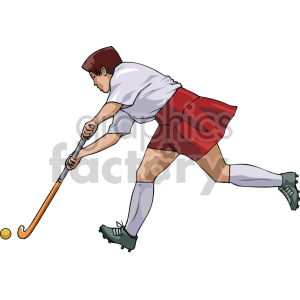 female playing field hockey clipart. Royalty-free image # 169288