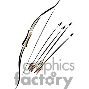 bow and arrows clipart. Royalty-free image # 173712