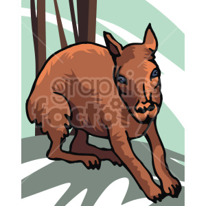 baby deer clipart. Royalty-free image # 129278