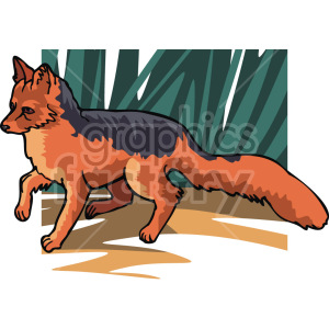 wild fox clipart. Commercial use image # 129283