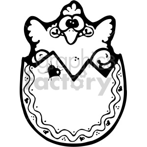 easter egg 011 bw clipart. Royalty-free image # 407867