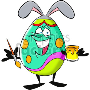 cartoon easter egg character clipart. Royalty-free image # 407926