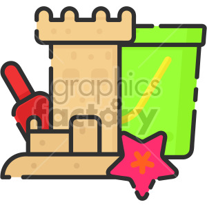 Sand castle clipart. Commercial use image # 407962