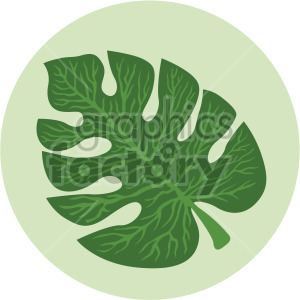 tropical palm leaf on green circle background clipart. Royalty-free image # 408038