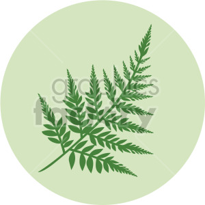 rowan branch on green circle background clipart. Royalty-free image # 408054