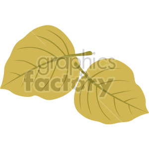 two leaves clipart. Royalty-free image # 408076