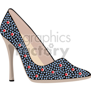 womans flashy high heels clipart. Royalty-free image # 408135