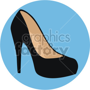 womans pump heel on blue circle background clipart. Royalty-free image # 408142