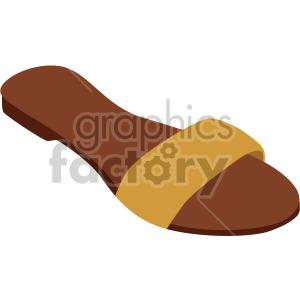 flat sandal clipart. Royalty-free image # 408167