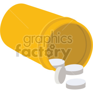 spilled medication bottle no background