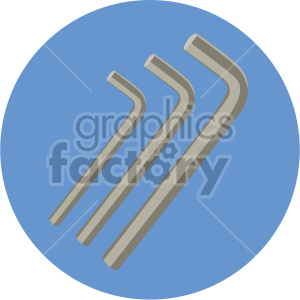 allen wrench on circle background