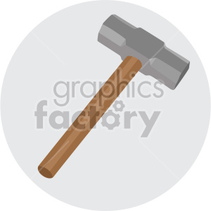 small sledge hammer on circle background clipart. Royalty-free image # 408260