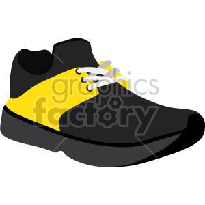 running shoe with yellow design