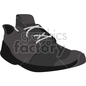 black shoe clipart. Commercial use image # 408331