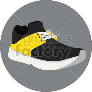 running shoe on circle background