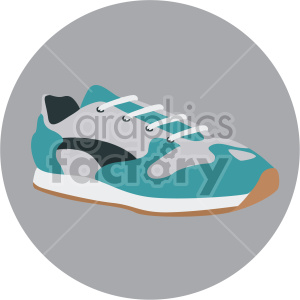 aqua walking shoe on grey circle background clipart. Royalty-free image # 408344