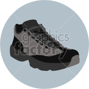 hiking shoe on circle design clipart. Commercial use image # 408348