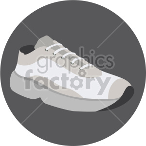 gray sneaker in circle design