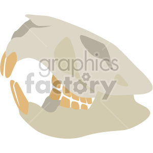 squirrel skull clipart. Royalty-free image # 408381