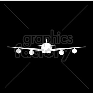 passenger plane front view on black background clipart. Royalty-free image # 408440