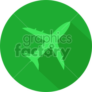 commercial airplane green circle icon clipart. Royalty-free image # 408445