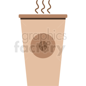 steaming coffee cup vecto clipart. Royalty-free image # 408453