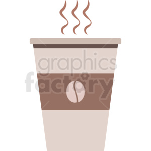 hot coffee cup vector clipart. Commercial use image # 408455