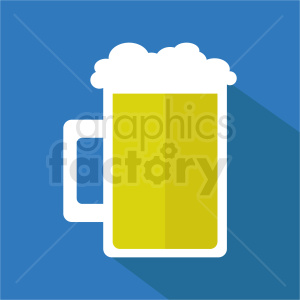 beer mug on square background clipart. Commercial use image # 408465