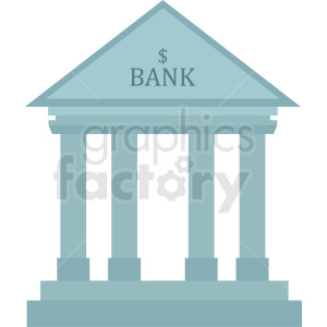 bank icon no background clipart. Royalty-free image # 408493