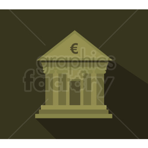 bank building vector icon clipart. Commercial use image # 408495