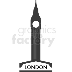 big ben building logo clipart. Commercial use image # 408518