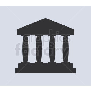museum pillars vector icon clipart. Commercial use image # 408543
