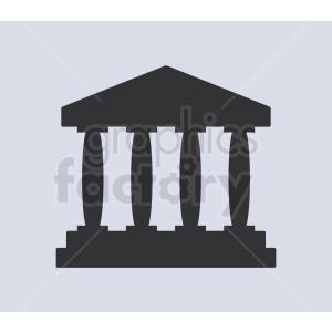 museum pillars vector icon