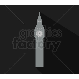 big ben building vector on black background clipart. Commercial use image # 408633