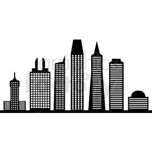 black san francisco city skyline clipart. Royalty-free image # 408635