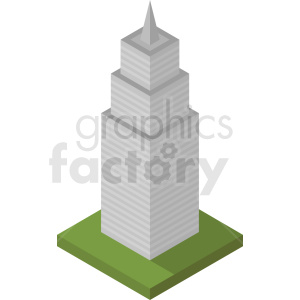 isometric skyscraper vector icon clipart. Royalty-free image # 408645