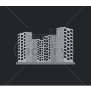 vector dowtown buildings on dark background clipart. Commercial use image # 408648
