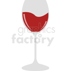 wine glass cartoon design clipart. Commercial use image # 408655