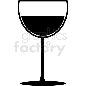 black and white wine glass outline clipart. Commercial use image # 408663