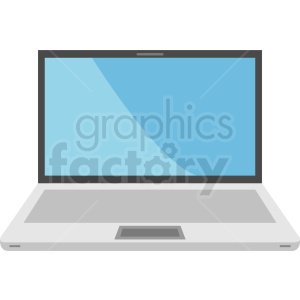 pc laptop computer vector clipart. Royalty-free image # 408695