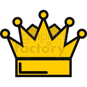 vector king crown icon clipart. Royalty-free image # 408735